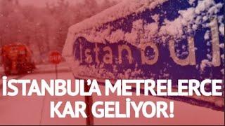 Şiddetli kar Yağışı Yolda! İstanbul'a Büyük Dev Kar Dalgası Geliyor!