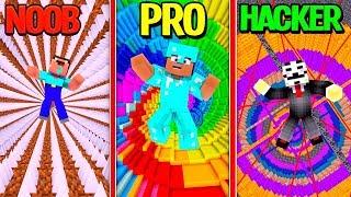 Minecraft - CUSTOM DROPPER BUILD BATTLE! (NOOB vs PRO vs HACKER)