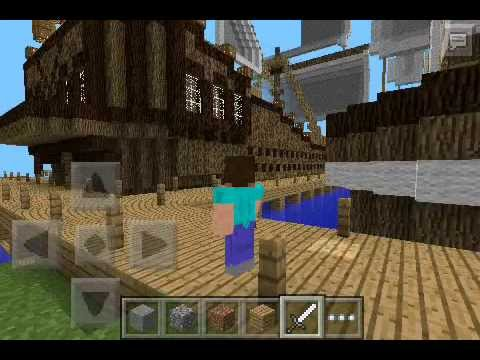 how to make a pirate ship in minecraft pe