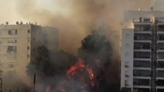 Raw: Fire Forces Thousands in Israel to Evacuate