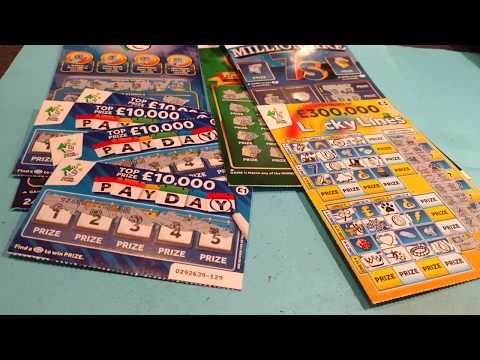 Blue 4 Million Big Uncle..scratchcard...Millionaire Green 21...Millionaire 7's
