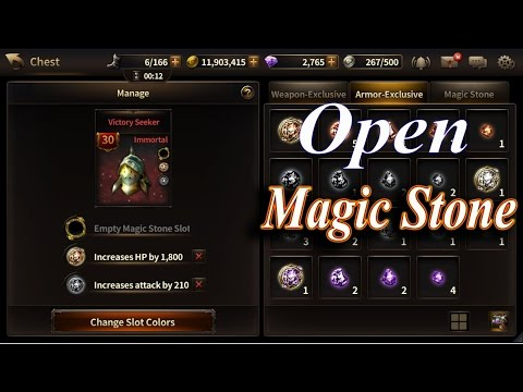 HIT : Heroes Of Incredible Tales Open Magic Stone Slot + Armor Transcendence Ticket Use