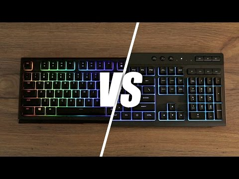 6ddabb08465 Razer Ornata Chroma vs Corsair K55 RGB Keyboard - YouTube