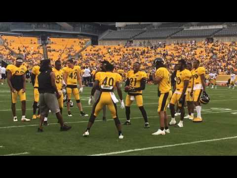 Pittsburgh Steelers DBs play hot potato