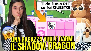 Una RAGAZZA vuole DARMI il suo SHADOW DRAGON ma.. 😱 Roblox ADOPT ME ITA By FrancyDreams