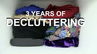 From Hoarder to Minimalist | Decluttering time-lapse |  3 years | 2018