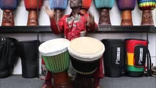 """Drumskull Drums & Mamady """"Wadaba"""" Kourouma - 2 Djembes! Guinea & Ivory Coast"""
