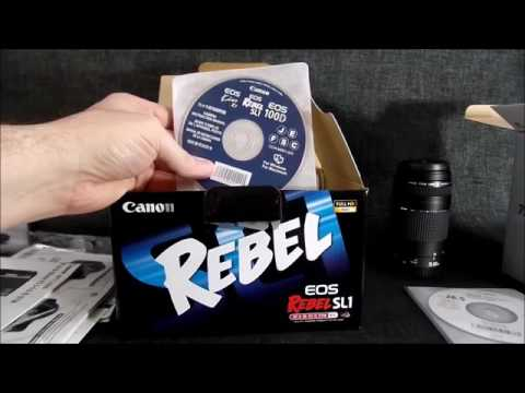 Canon EOS Rebel SL1 18MP DSLR Camera with 18 55 STM & 75 300mm Lenses & Accs Unboxing
