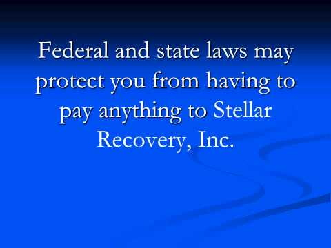 Stop Stellar Recovery, Inc!  Call 877-737-8617 for legal help.