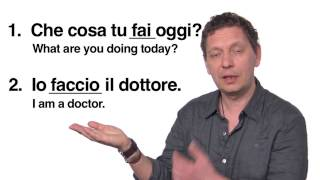 Italian Language Lessons: The Verb Fare - to Do or Make