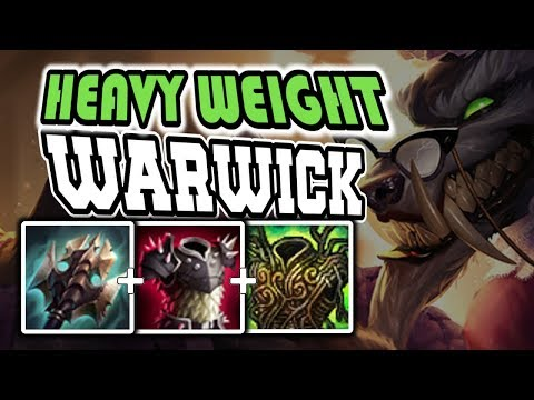 Heavy Weight WARWICK JUNGLE Full Gameplay COMMENTARY - League of Legends [Season 7]