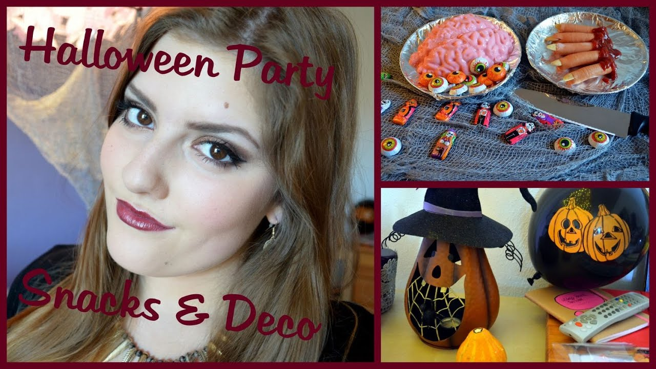 halloween party diy snack ideen deko vorschl ge youtube. Black Bedroom Furniture Sets. Home Design Ideas