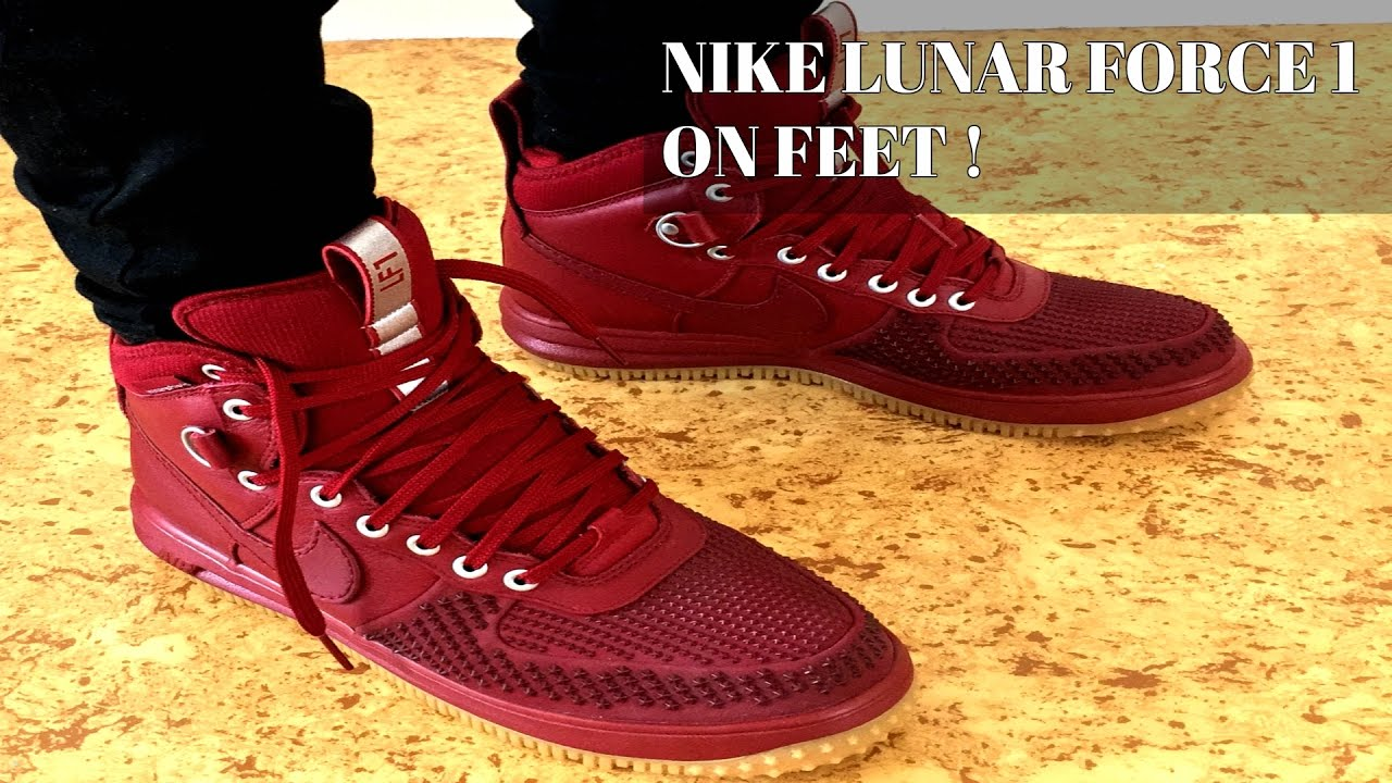 Nike Lunar Force 1 Duckboot On Feet - YouTube eebaa4686