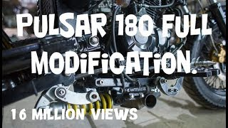 Pulsar 180 full custom modification. full in hindi part 1
