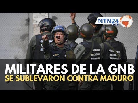 Grupo de militares venezolanos llama a desconocer a Maduro y son arrestados en Caracas