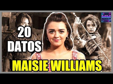 "20 Curiosidades sobre ""MAISIE WILLIAMS"" - (Arya Stark - Game of Thrones) - |Master Movies|"