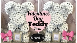 Glam Personalised Valentines Day Teddy Bear