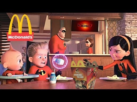 Mcdonalds Incredibles 2 Happy Meal Toys Commercial Disney Pixar Movie 2018 Full Set Of 10 Toys