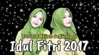 Tutorial Hijab Segiempat Rawis Simple Untuk Hari Raya Idul Fitri 2017 Youtube