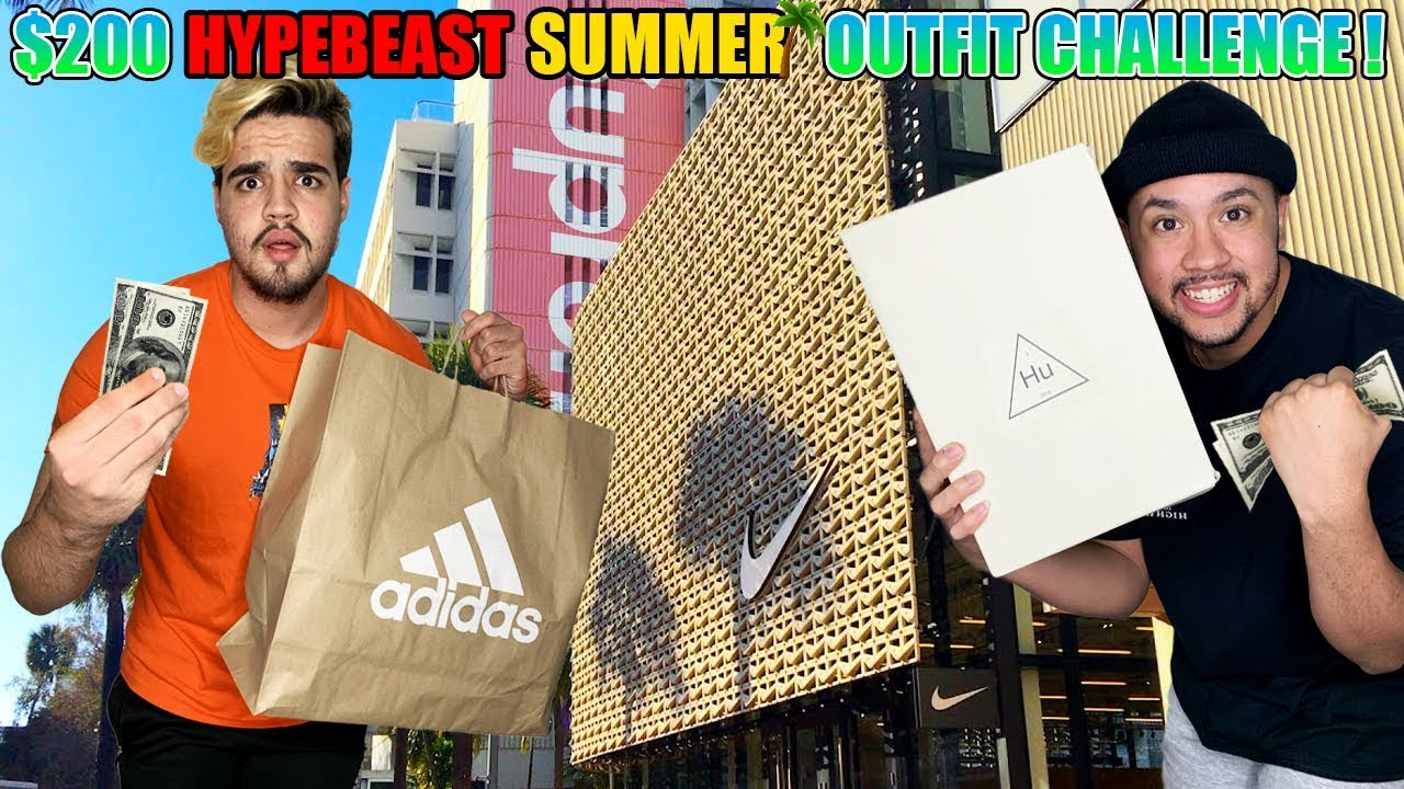 $200 HYPEBEAST SUMMER OUTFIT CHALLENGE AT THE MALL!!