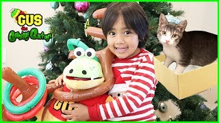 I visit Ryan ToysReview for Christmas and play with Ryan's Cat!