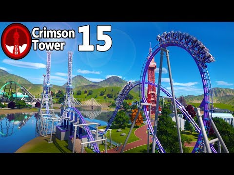 Planet Coaster - Crimson Tower (Part 15) - Giant Inverted Boomerang!
