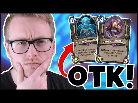 Hearthstone | Crazy COIN COMBO! | Wild Spectral Pillager OTK Galakrond Rogue | Descent Of Dragons