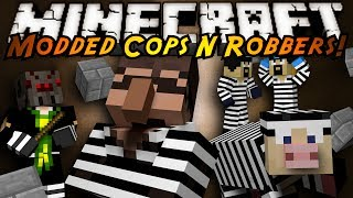 Minecraft Mini-Game : MODDED COPS N ROBBERS! MORPH!