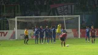 Gol Tendangan Bebas Pemain Frankfurt Vs Arema (Saknoe Kiper'e)