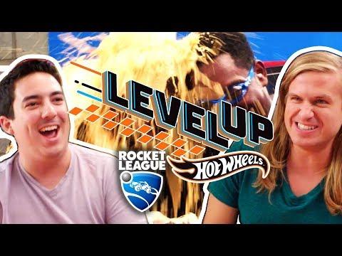 ROCKET LEAGUE GROSS SLIME BUCKET CHALLENGE | Hot Wheels: Level Up
