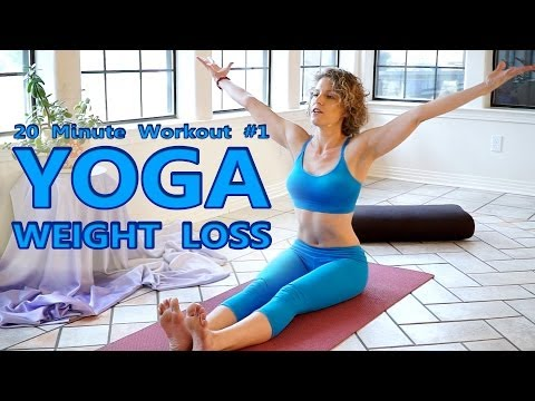 Yoga For Weight Loss & Flexibility Day 1 Workout - Fat Burning 20 Minute Beginners Class