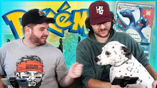 Pokémon pack battle but loser has to give my dog a massage...