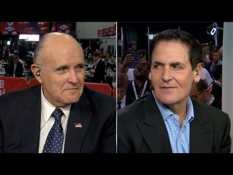 Mark Cuban, Rudy Giuliani spar over Clinton emails