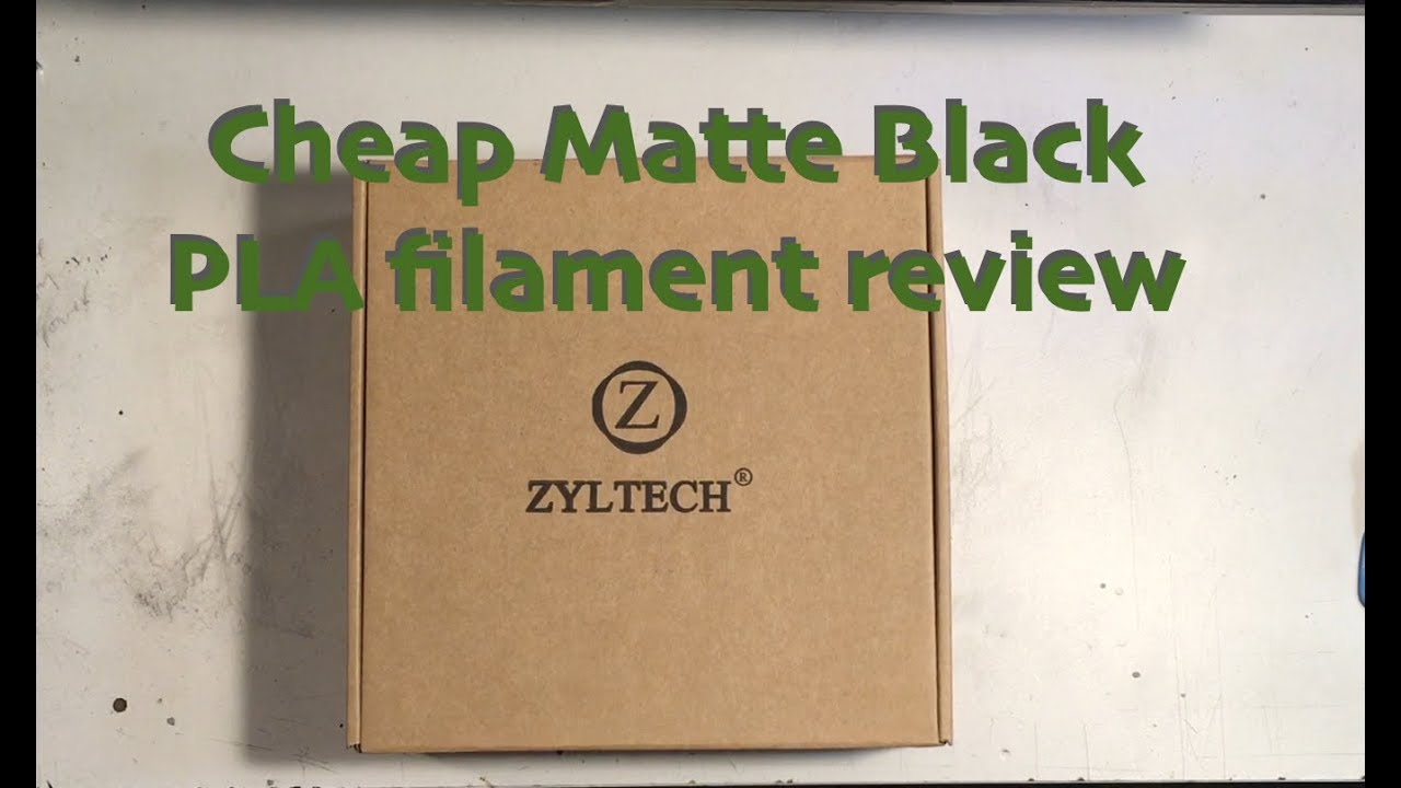 Cheapo matte black filament    low budget PLA for your inner emo