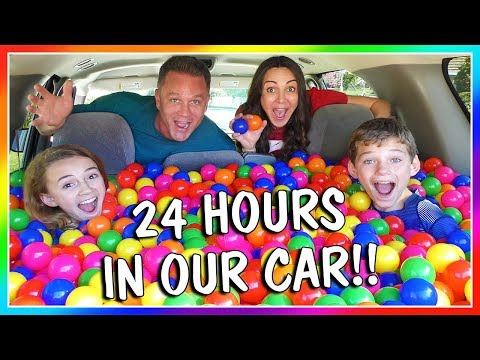 24 HOURS OF LIVING IN OUR CAR! | OVERNIGHT CHALLENGE | We Are The Davises