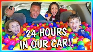 Spending 24 hours in our car was so much fun! We even put a ball pi...