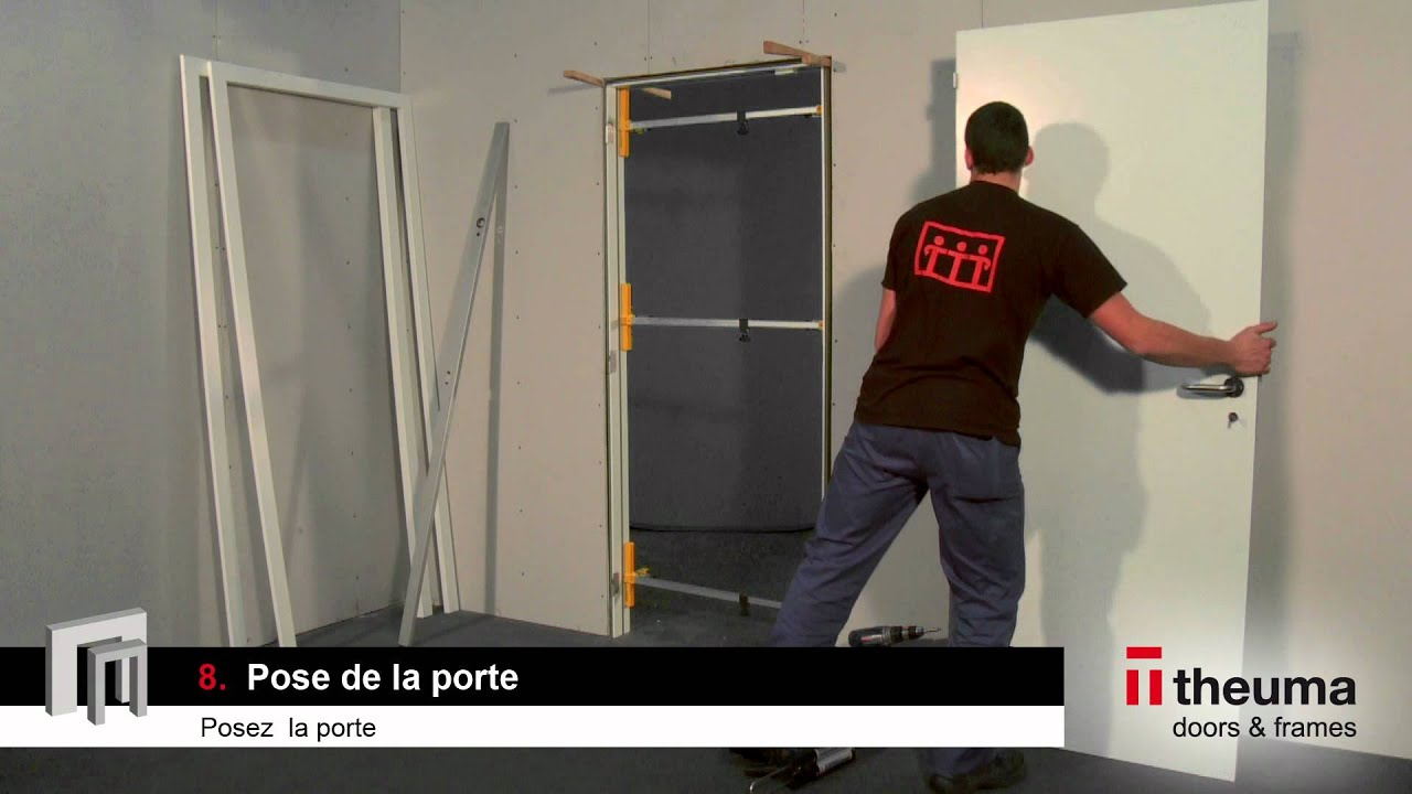 Notice de pose d 39 un bloc porte de theuma youtube for Prix pose bloc porte interieur