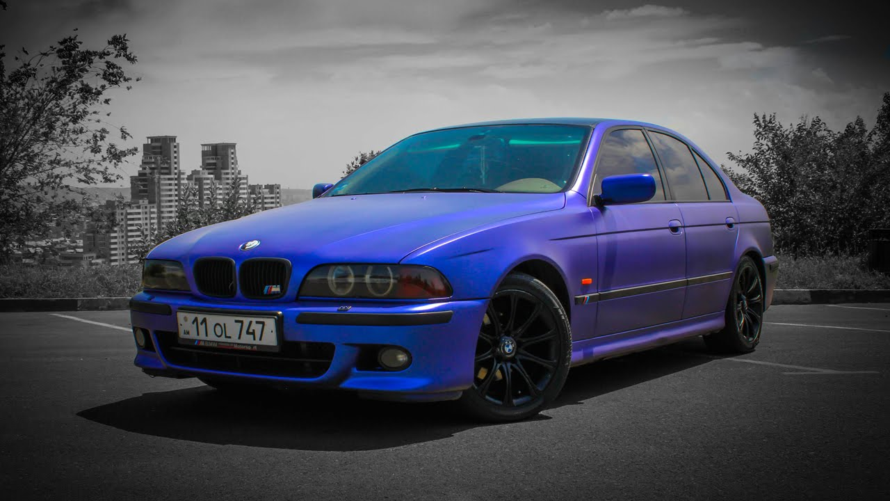 bmw e39 in matte blue youtube. Black Bedroom Furniture Sets. Home Design Ideas