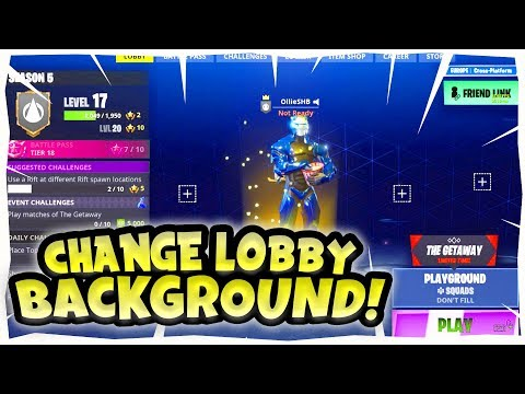 *NEW* How To Change Lobby Background! (OG Fortnite Background) WORKING Season 6