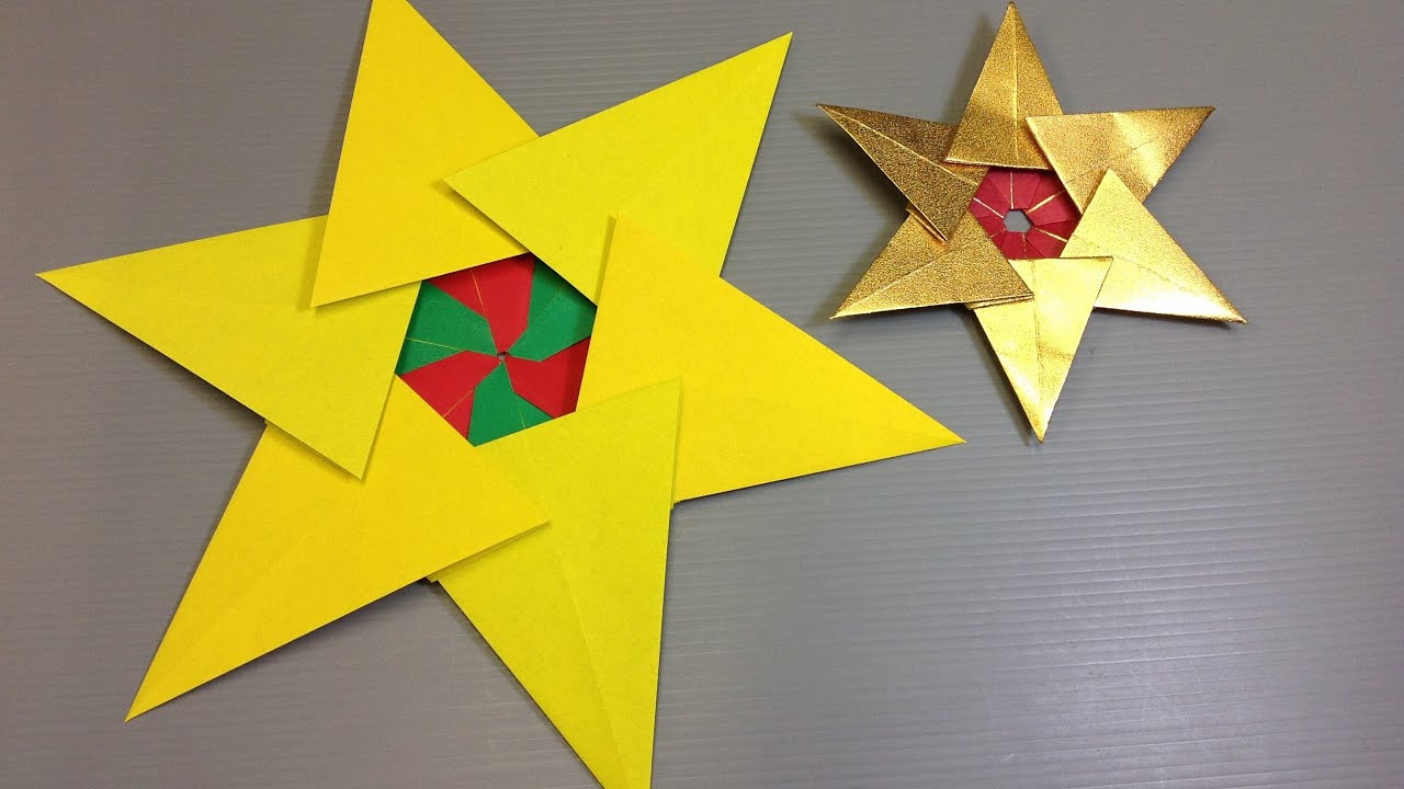 Giotto Decor Materials Instructions Easy Origami Christmas Tree Star Youtube