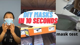 DIY face masks in 10 seconds & improve cheaper masks #coronavirus  #facemask