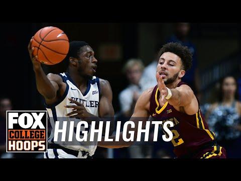 Butler Puts Away Minnesota Late Behind 27 Pt Night From Kamar Baldwin | FOX COLLEGE HOOPS HIGHLIGHTS