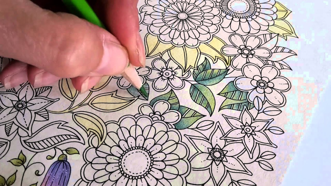Colouring Secret Garden With Bruynzeel Super Sixties Pencils