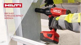 Cordless Impact Wrench: Hilti SIW 9-A22 ¾''