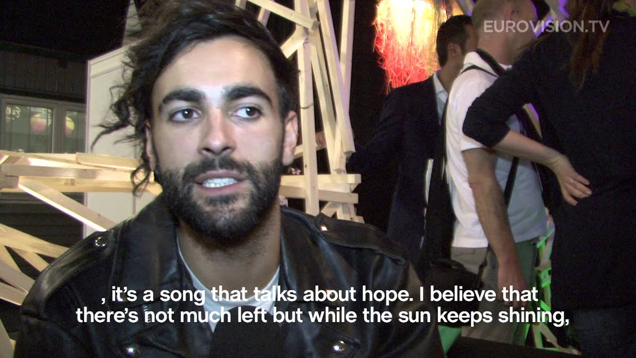 Interview with Marco Mengoni representing Italy