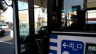 大雲寺交差点を通過する後続の岡山行き岡電バス