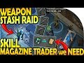 WEAPON STASH RAID - The SKILL MAGAZINE TRADER WE NEED - Last Day On Earth Survival 1.9.4