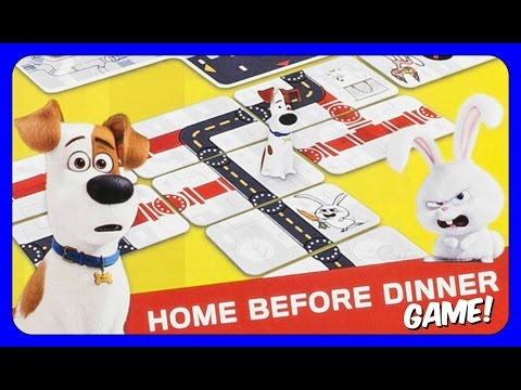 The Secret Life Of Pets Home Before Dinner GAME! MAX & SNOWBALL!  FUN FAMILY GAME NIGHT