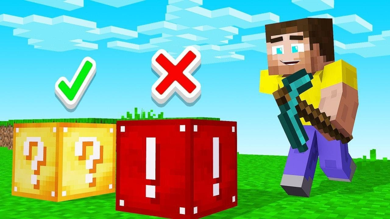 Minecraft But Which Block Is The LUCKIEST? (lucky or unlucky) thumbnail