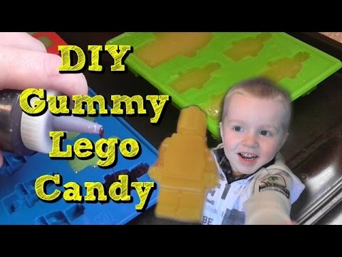 How to make LEGO Gummy Jello Candy - DIY LEGO Gummy Candy ...